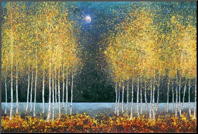 Blue Moon Mounted Print by Melissa Graves-Brown