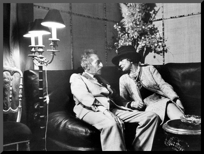 Jean Cocteau and Coco Chanel Mounted Photo by Luc Fournol