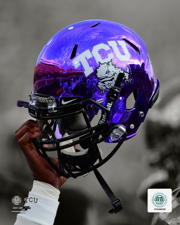 Texas Christian University Horned Frogs Helmet Spotlight Photo