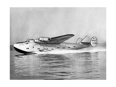 """Boeing 314 Clipper """"Yankee Clipper"""" beim Start, 1939 Fotoprint av Scherl Süddeutsche Zeitung Photo"""