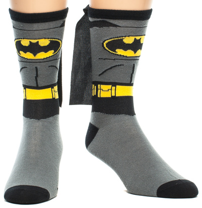 Batman - Suit Up Crew Sock with Cape Socks