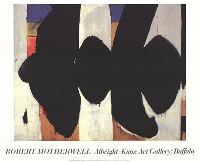 Elegy to the Spanish Republic 34 Collectable Print by Robert Motherwell