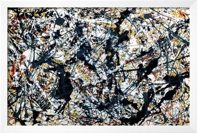 Silver On Black Print by Jackson Pollock