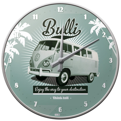 VW Retro Bulli - Wall Clock Ur