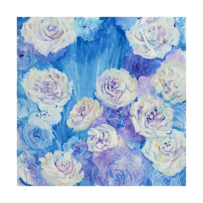 White Blooms Giclee Print by Mercedes Marin