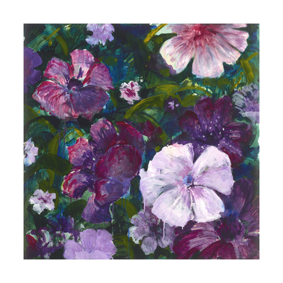 Purple Blooms Giclee Print by Mercedes Marin