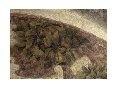 Detail of Fruits and Leaves, from the Last Supper, 1494-98 Prints by Leonardo da Vinci