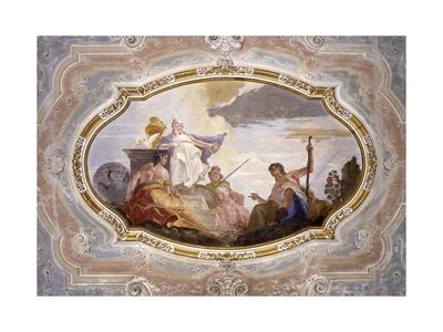 Judgment of Paride Art by Francesco Fontebasso
