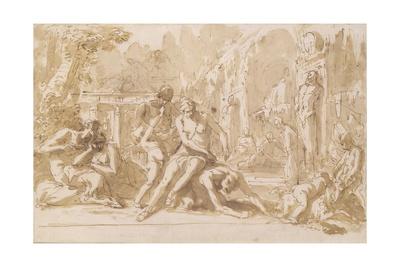 Bacchanal, 1720 Posters by Sebastiano Ricci