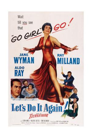 Let's Do it Again, Below Left: Ray Milland, Aldo Ray, Jane Wyman; Center: Jane Wyman, 1953 Prints