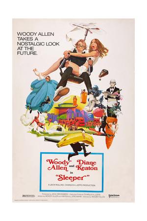 Sleeper, Woody Allen, Diane Keaton, 1973 Prints