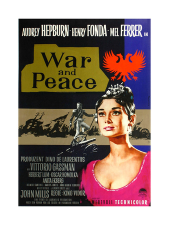 War and Peace, from Left: Mel Ferrer, Audrey Hepburn, 1956 Prints
