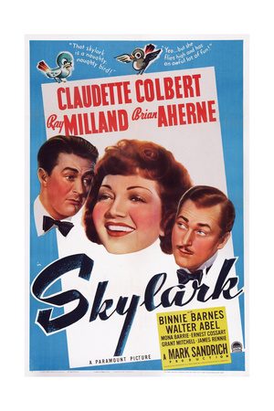 Skylark, from Left, Ray Milland, Claudette Colbert, Brian Aherne, 1941 Prints