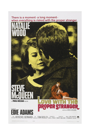 Love with the Proper Stranger, from Left: Natalie Wood, Steve Mcqueen, 1963 Art