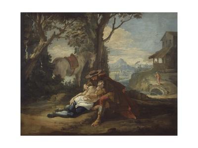 Story of the Good Samaritan Art by Francesco Fontebasso