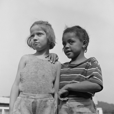 Two Girls at Camp Christmas Seals, a Racially Integrated Summer Camp in Haverstraw, NY Photo by Gordon Parks