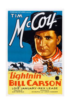 Lightnin' Bill Carson Art: Tim Mccoy, 1936 Posters