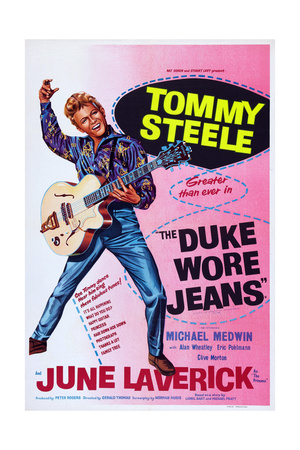 The Duke Wore Jeans, Tommy Steele, 1958 Posters