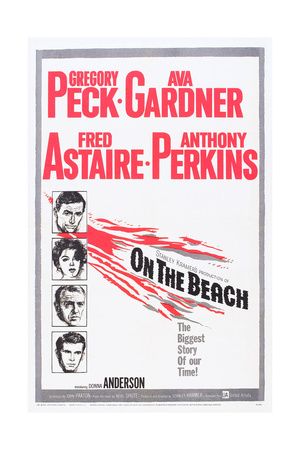 On the Beach, Gregory Peck, Ava Gardner, Fred Astaire, Anthony Perkins, 1959 Plakater