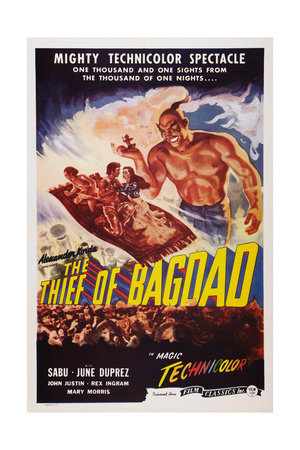 The Thief of Bagdad, Top from Left: Sabu, John Justin, June Duprez, Rex Ingram, 1940 Prints