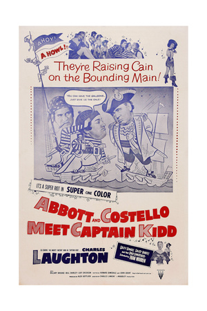 Abbott and Costello Meet Captain Kidd, from Left: Bud Abbott, Lou Costello, Charles Laughton, 1952 Prints