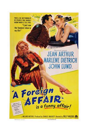 A Foreign Affair, Marlene Dietrich, John Lund, Jean Arthur, 1948 Print