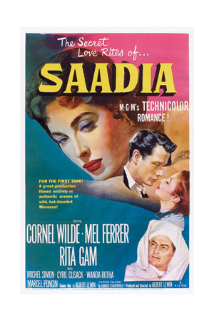 Saadia, from Left: Rita Gam, Mel Ferrer, Rita Gam, Cornel Wilde (Bottom), 1953 Prints