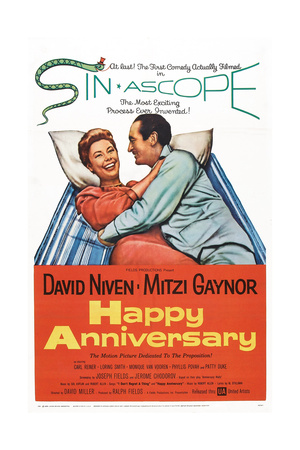 Happy Anniversary, from Left: Mitzi Gaynor, David Niven, 1959 Prints