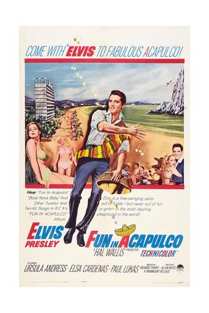 Fun in Acapulco, Elvis Presley, Ursula Andress, 1963 Prints