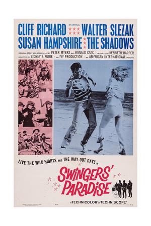 Swingers' Paradise, (Aka Wonderful Life), Right from Left: Cliff Richard, Susan Hampshire, 1964 Art