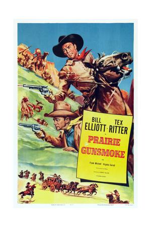 Prairie Gunsmoke, from Left: Tex Ritter, Bill Elliott, 1942 Prints