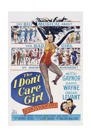 The I Don't Care Girl, Mitzi Gaynor, 1953 Print