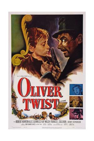 Oliver Twist, Top, from Left: John Howard Davies, Robert Newton, 1948 Poster