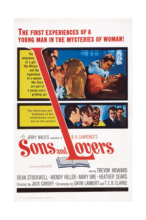 Sons and Lovers, Top Insert: Dean Stockwell with Mary Ure and Heather Sears, 1960 Print