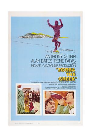 Zorba the Greek (Aka Alexis Zorbas), Bottom Right Inset on Left: Anthony Quinn, 1964 Posters