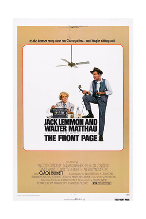 The Front Page, from Left: Jack Lemmon, Walter Matthau, 1974 Art