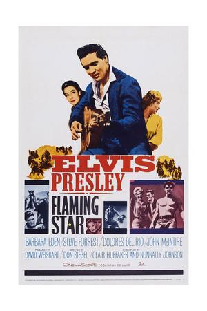 Flaming Star, Dolores Del Rio, Elvis Presley, Barbara Eden, 1960 Poster