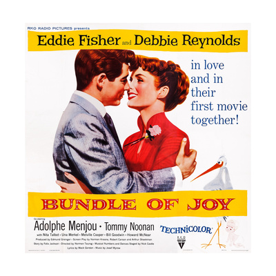 Bundle of Joy, L-R: Eddie Fisher, Debbie Reynolds, 1956 Print