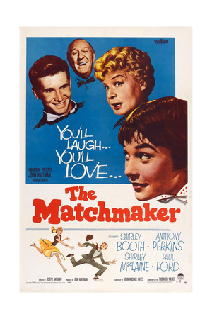 The Matchmaker, from Left: Anthony Perkins, Paul Ford, Shirley Booth, Shirley Maclaine, 1958 Prints