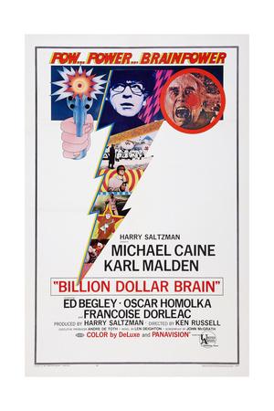 Billion Dollar Brain, Michael Caine, Ed Begley, 1967 Prints
