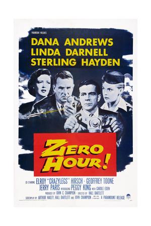 Zero Hour!, from Left: Linda Darnell, Sterling Hayden, Dana Andrews, Peggy King, 1957 Prints