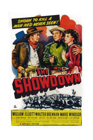 The Showdown, from Left: Walter Brennan, Bill Elliott, Marie Windsor, 1950 Art