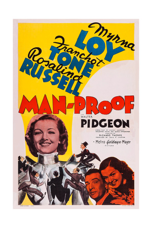 Man-Proof, from Left: Myrna Loy, Walter Pidgeon, Rosalind Russell, 1938 Prints
