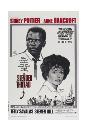 The Slender Thread, Sidney Poitier, Anne Bancroft, 1965 Posters