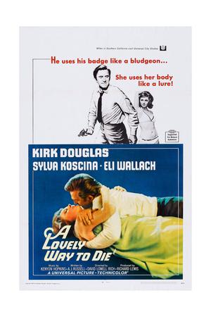 A Lovely Way to Die, Top and Bottom: Kirk Douglas, Sylva Koscina, 1968 Prints