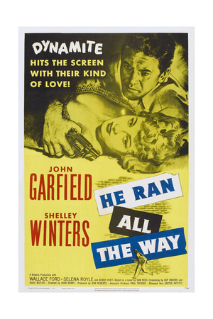 He Ran All the Way, from Left: John Garfield, Shelley Winters, 1951 Prints