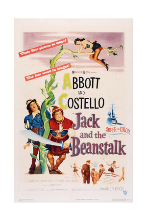 Jack and the Beanstalk, from Left: Bud Abbott, Lou Costello, 1952 Posters