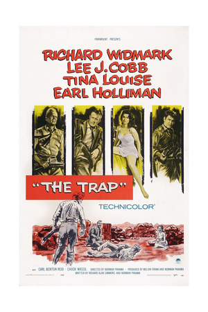The Trap, from Left: Richard Widmark, Lee J. Cobb, Tina Louise, Earl Holliman, 1959 Posters
