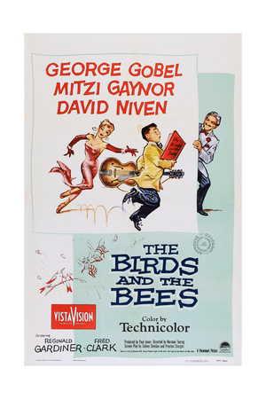 The Birds and the Bees, from Left: Mitzi Gaynor, George Gobel, David Niven, 1956 Posters