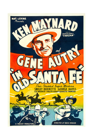 In Old Santa Fe, Gene Autry, 1934 Posters